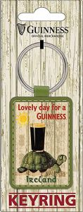 Guinness Tortoise PU Leather Keyring  (sg)